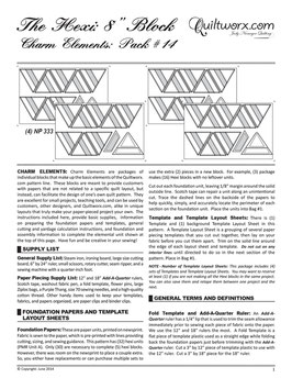 Charm Elements: Pack #14, Quiltworx, Judy Niemeyer