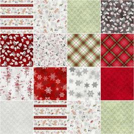 5in Squares Winter Wonderland, P & B Textiles Winter Wonderland by Sandy Clough Collection