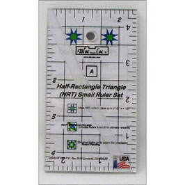 Half-Rectangle Triangle Ruler Set 2:1 (HRT) Mini, Bloc_Loc