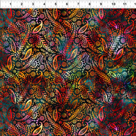 Paisley - Red, Floragraphix, In The Beginning Fabrics 01163550821