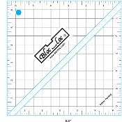 "Half Square Triangle Ruler (HST) 6 1/2"" x 6 1/2"", Bloc_Loc"