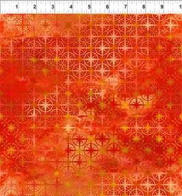 orange Sternmuster, Calypso by Jason Yenter for In The Beginning fabrics 04462650819