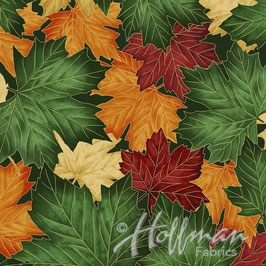 Forest Gold, Cant Stop Falling, Hoffman California Fabrics, 06523750618