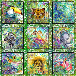 Panel, Safari by Jason Yenter for In The Beginning Fabrics 06467950819