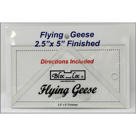 "Flying Geese Square up Ruler 2 1/2"" x 5"", Bloc_Loc"