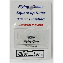 "Flying Geese Square up Ruler 1"" x 2"", Bloc_Loc"