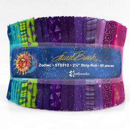 2-1/2in Strips LB Basics Zodiac, Laurel Burch, Clothworks