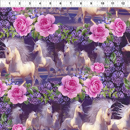 Unicorns, Running - Multi 4UN1, In The Beginning Fabrics 05027950821