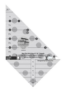 Creative Grids Non-Slip Multi-Size 45°/90° Triangle Ruler