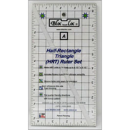 Half-Rectangle Triangle Ruler Set 2:1 (HRT) Large, Bloc_Loc