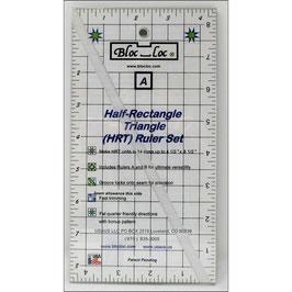 Half-Rectangle Triangle Ruler Set 2:1 (HRT) Large, Bloc_Loc