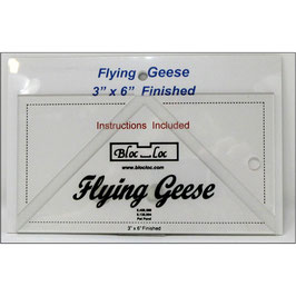 "Flying Geese Square up Ruler 3"" x 6"", Bloc_Loc"