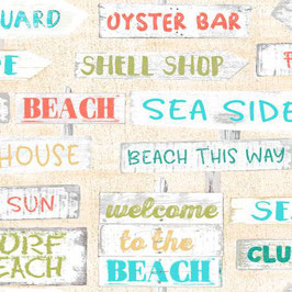 Cream Signs, Beach Travel Collection, Beth Albert, 3 Wishes 03110950521