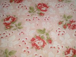Victoria, Rote Rosen auf pinkem Grund, Moda, 03205950818