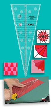 Creative Grids Non-Slip 22.5 ° Triangle Quilt Ruler CGREU3, Erin Underwood