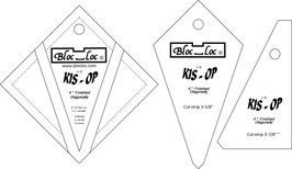 Kite in a Square on Point Ruler SET (3P), KIS OP 4 x 4 inch, Bloc_Loc