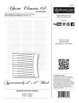 Charm Elements: Pack #17 Willow Block, Quiltworx, Judy Niemeyer