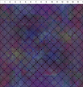 violettes gotisches Muster, Diaphanous by Jason Yenter for In The Beginning fabrics 04352650819