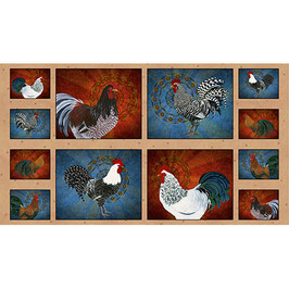 Rooster Patches, Panel, Quilting Treasures, 04024050816