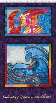 Embracing Horses, Dark Purple Metallic, Laurel Burch (große Motive) 11204050814
