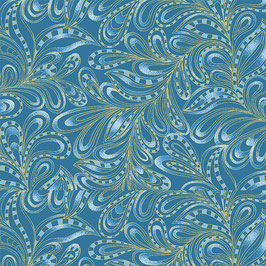 Featherly Paisley Blue, PurrFect Together for Benartex by Ann Lauer, 11087850718