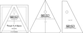 Triangle in a Square Ruler, TIS 3 x 3 inch, Bloc_Loc