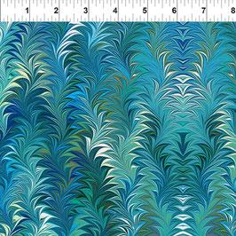 7JYM2 Florence Aqua, Marble Essence by Jason Yenter, In The Beginning Fabrics