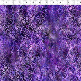 Medallions - Purple, Floragraphix, In The Beginning Fabrics 01273550821