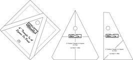 Triangle in a Square Ruler Set(3P), TIS OP 4 x 4 inch, Bloc_Loc