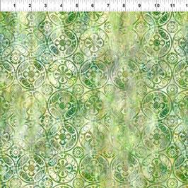 Medallions - Green, Floragraphix, In The Beginning Fabrics 01173550821