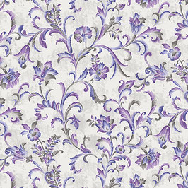 Fresco Scroll Violet, Lilacs in Bloom, Benartex, 08075950718