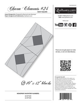 Charm Elements #24, Wavy Square, Quiltworx, Judy Niemeyer