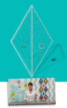 Creative Grids Non-Slip 60° Diamond Ruler, Krista Moser CGR60DIA