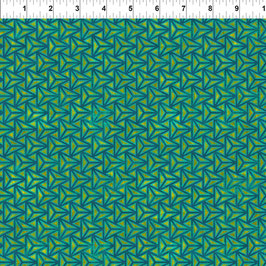 Facet Teal, Cosmos by Jason Yenter for In The Beginning fabrics 09117950820