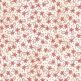 Rote Blüten auf weiß, Maywood Studio, 10219550718