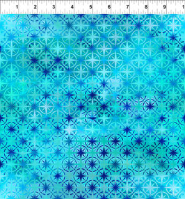 hellblaue Sternmuster, Calypso by Jason Yenter for In The Beginning fabrics 04482650819