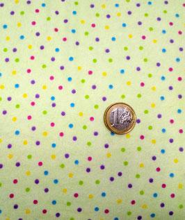 bunte Punkte auf grün, Flannel Multi Dots Green, Fabri-Quilt, Inc. 10242050714