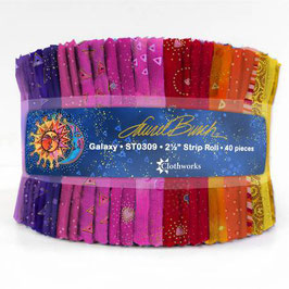 2-1/2in Strips LB Basics Galaxy, Laurel Burch, Clothworks