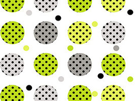 Contempo Dots, Big Dots, Black, Quilting Treasures 12870050711