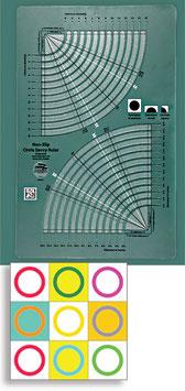 "Creative Grids Non Slip Circle Savvy Ruler 11 3/4"" x 18 1/2"""