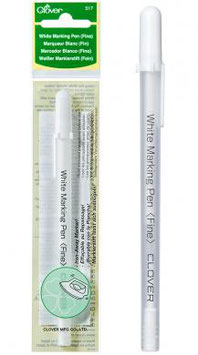 Clover 517, Weißer Markierstift, ausbügelbar