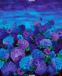 36″ Misty Hydrangea Panel, Misty, Timeless Treasures, 06090450819
