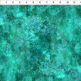 Flourih Teal, 13RJ2, In The Beginning Fabrics 02123550821