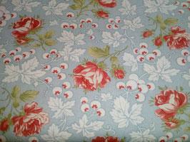 Victoria, Rote Rosen auf blauem Grund, Moda, 03155950818