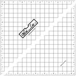 "Half Square Triangle Ruler (HST) 8 1/2"" x 8 1/2"", Bloc_Loc"