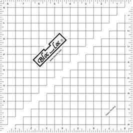 "Half Square Triangle Ruler (HST) 8 1/2"" x 8 1/2"", Bloc_Loc"
