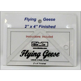 """Flying Geese Square up Ruler 2"""" x 4"""", Bloc_Loc"""