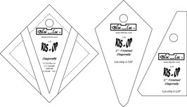 Kite in a Square on Point Ruler SET (3P), KIS OP 3 x 3 inch, Bloc_Loc
