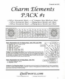 Charm Elements Pack #1, Quiltworx, Judy Niemeyer