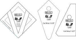 Kite in a Square on Point Ruler SET (3P), KIS OP 2 x 2 inch, Bloc_Loc